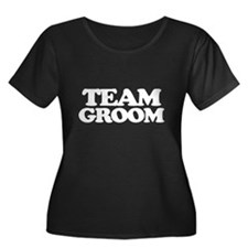 Team Groom (white font) Plus Size T-Shirt