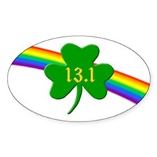 Shamrock 13.1 half-marathon Decal