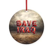Save Iraq Ornament (round)