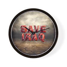 Save Iraq Wall Clock
