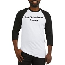 Red Chile Sauce lover Baseball Jersey