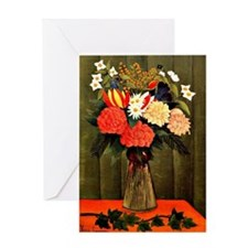 Henri Rousseau - Bouquet of Flowers  Greeting Card