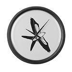 Scissor-tailed Kite Cartoon Large Wall Clock