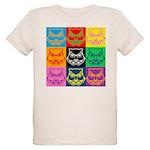 Pop Art Owl Face Organic Kids T-Shirt