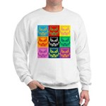 Pop Art Owl Face Sweatshirt