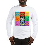 Pop Art Owl Face Long Sleeve T-Shirt