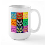 Pop Art Owl Face Large Mug