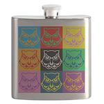 Pop Art Owl Face Flask