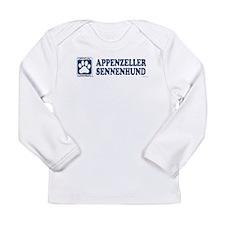 APPENZELLER SENNENHUND_Blue Long Sleeve T-Shirt