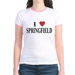 I Love Springfield Jr. Ringer T-Shirt