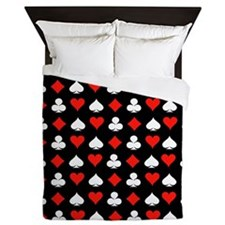 Poker Symbols Queen Duvet