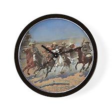 Vintage Cowboys by Remington Wall Clock