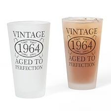 Vintage 1964 Birth Year Drinking Glass