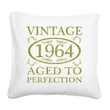 Vintage 1964 Birth Year Square Canvas Pillow