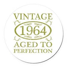 Vintage 1964 Birth Year Round Car Magnet