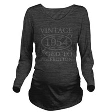 Vintage 1954 Birth Y Long Sleeve Maternity T-Shirt