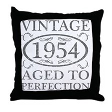 Vintage 1954 Birth Year Throw Pillow