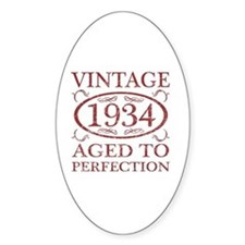 Vintage 1934 Birth Year Decal