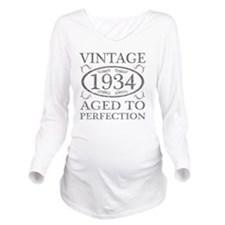 Vintage 1934 Birth Y Long Sleeve Maternity T-Shirt