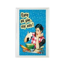 Easy As Pie Rectangle Magnet