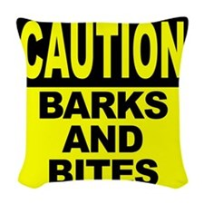 Barks and Bites Woven Throw Pillow