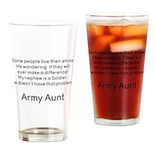 Army Aunt No Problem Nephew Drinking Glass