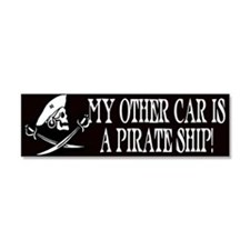 Cool Caribbean pirate Car Magnet 10 x 3