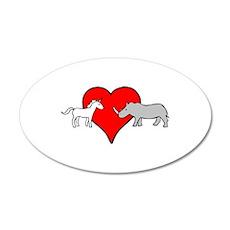 Unicorn Loves Rhino Wall Sticker
