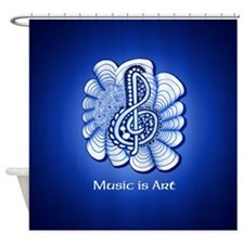 Customizable Music Is Art Treble Shower Curtain