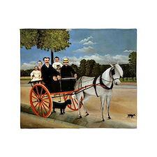 Henri Rousseau - Old Junior's Cart Throw Blanket