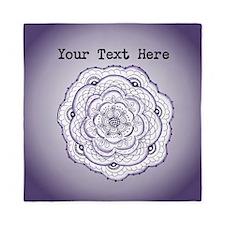 Purple Flower Original Art Personaliza Queen Duvet