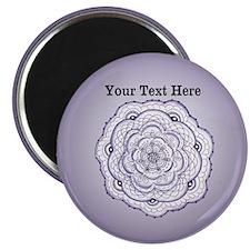Purple Flower Original Art Personalizable Magnet