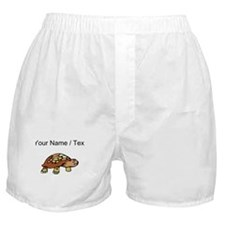 Custom Brown Turtle Boxer Shorts