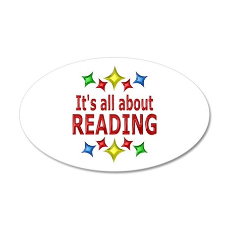 Shiny About Reading 20x12 Oval Wall Decal