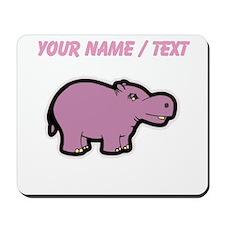 Custom Purple Hippo Mousepad