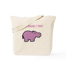 Custom Purple Hippo Tote Bag