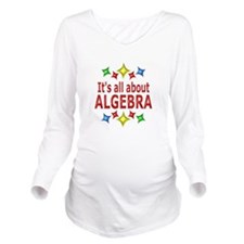 Shiny About Algebra Long Sleeve Maternity T-Shirt