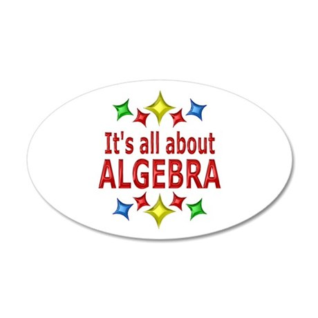 Shiny About Algebra 35x21 Oval Wall Decal