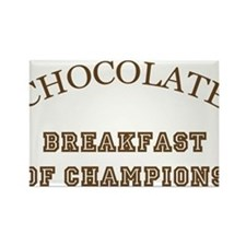Breakfast Champions Chocolate Rectangle Magnet