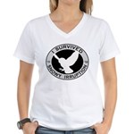 Snowy Owl Irruption Women's V-Neck T-Shirt