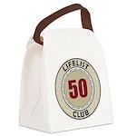 Lifelist Club - 50 Canvas Lunch Bag