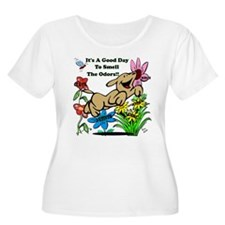 Nosework Good Day To Smell Plus Size T-Shirt