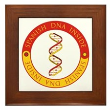 Spanish DNA Framed Tile