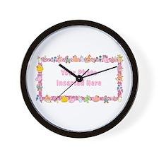 Baby Girl Border Wall Clock