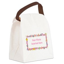 Baby Girl Border Canvas Lunch Bag