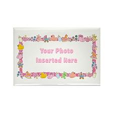 Baby Girl Border Rectangle Magnet (10 pack)