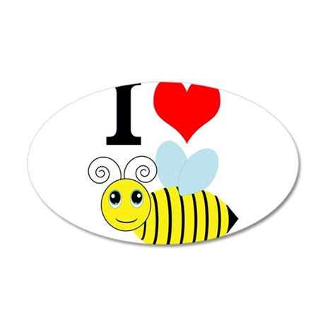 I Love Bees Wall Decal