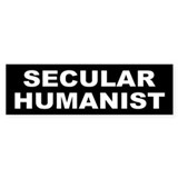 SECULAR HUMANIST Bumper Car Sticker