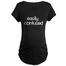 Easily Confused Maternity Black T-Shirt