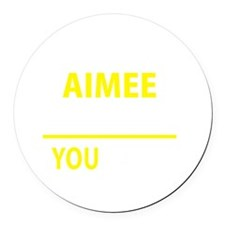 Cute Aimee Round Car Magnet